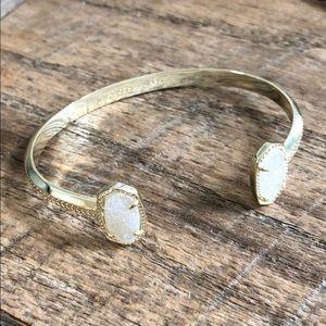 Kendra Scott light gold and white druzy bracelet